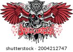 gothic sign with skull and... | Shutterstock .eps vector #2004212747