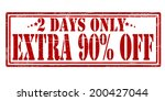 stamp with text two days extra...   Shutterstock .eps vector #200427044