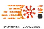 mosaic gone viral icon... | Shutterstock .eps vector #2004293501