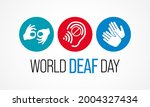 world deaf day is observed... | Shutterstock .eps vector #2004327434