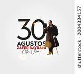 august 30 celebration of...   Shutterstock .eps vector #2004334157