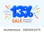 special summer sale banner 13 ... | Shutterstock .eps vector #2004341474