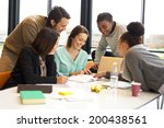 group of happy young students... | Shutterstock . vector #200438561