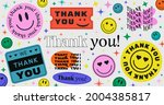 thank you abstract hipster cool ... | Shutterstock .eps vector #2004385817
