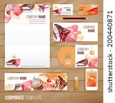corporate identity business set ... | Shutterstock .eps vector #200440871