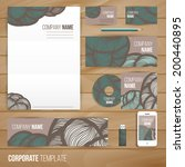 corporate identity business set ... | Shutterstock .eps vector #200440895