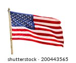 united states of america flag... | Shutterstock . vector #200443565