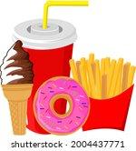 fast food menu  regular ice...   Shutterstock .eps vector #2004437771