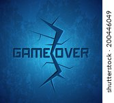 vector message  game over on... | Shutterstock .eps vector #200446049