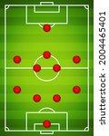 football team formation. soccer ... | Shutterstock .eps vector #2004465401