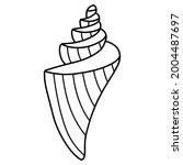 hand drawn doodle unusual... | Shutterstock .eps vector #2004487697