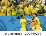 Постер, плакат: Fred of Brazil celebrates