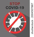 coronavirus icon poster with... | Shutterstock .eps vector #2004507887