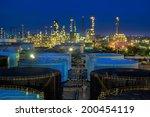 landscape of oil refinery...   Shutterstock . vector #200454119