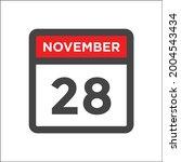 november 28th calendar icon w...   Shutterstock .eps vector #2004543434