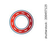 circle race circuit image. car... | Shutterstock .eps vector #200457125
