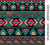 tribal vintage ethnic seamless... | Shutterstock .eps vector #200462261