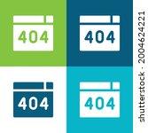 404 error flat four color...
