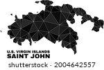 low poly saint john island map. ... | Shutterstock .eps vector #2004642557
