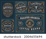 a set of different labels in... | Shutterstock .eps vector #2004655694