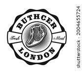 a vintage butcher shop logo... | Shutterstock .eps vector #2004655724