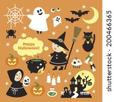halloween elements | Shutterstock .eps vector #200466365