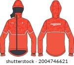 women long sleeve anorak hoodie ... | Shutterstock .eps vector #2004746621