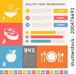 healthy food infographic... | Shutterstock .eps vector #200476691