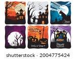 happy halloween. a tense night... | Shutterstock .eps vector #2004775424