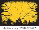 happy halloween. a tense night... | Shutterstock .eps vector #2004775427