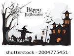 happy halloween. a tense night... | Shutterstock .eps vector #2004775451