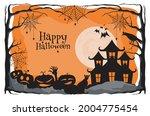 happy halloween. a tense night... | Shutterstock .eps vector #2004775454