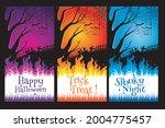 happy halloween. a tense night... | Shutterstock .eps vector #2004775457