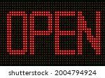 red open led text on the... | Shutterstock .eps vector #2004794924