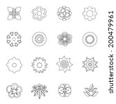 flowers icon line drawing by... | Shutterstock .eps vector #200479961