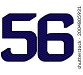 number 56 vector illustration....   Shutterstock .eps vector #2004805931