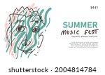 floral pattern background for... | Shutterstock .eps vector #2004814784