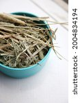 Small photo of Timothy Grass pieces being dried