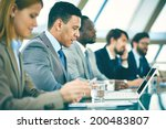 row of business people... | Shutterstock . vector #200483807