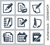 paper document vector icons set | Shutterstock .eps vector #200484929