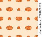 pumpkin rainbow fall seamless...   Shutterstock . vector #2004883571