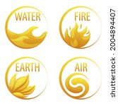 4 Elements Nature  Golden Icons ...