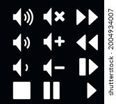 multimedia icon set. stop  fast ... | Shutterstock .eps vector #2004934007