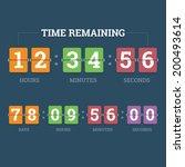countdown mechanical clock on... | Shutterstock .eps vector #200493614