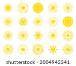 sun icon set. yellow sun star...   Shutterstock .eps vector #2004942341