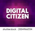 digital citizen text quote ... | Shutterstock .eps vector #2004966554