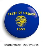 oregon state flag isolated icon. | Shutterstock . vector #200498345