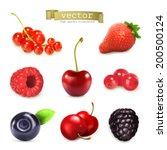 sweet berries  vector... | Shutterstock .eps vector #200500124