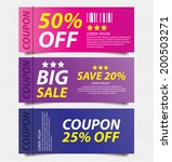 offers and promotions. vector... | Shutterstock .eps vector #200503271