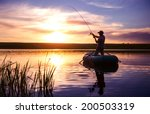 Mature Man Fishing From The...